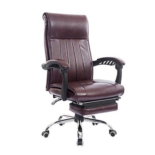 Kancelářská židle Triton s výsuvnou podnožkou | hnědá