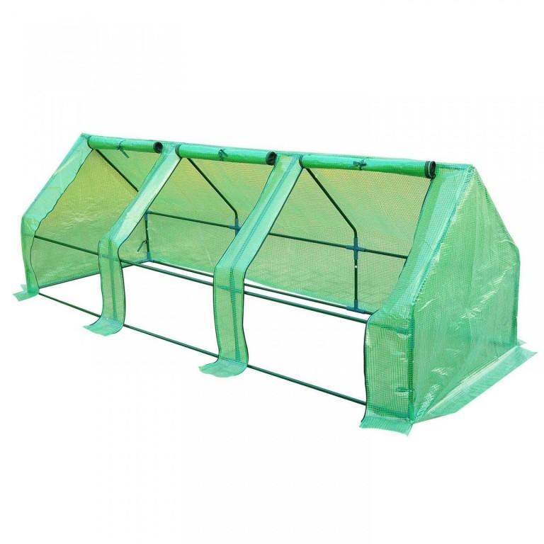 Zahradní foliovník 270 x 90 x 90 cm | zelený