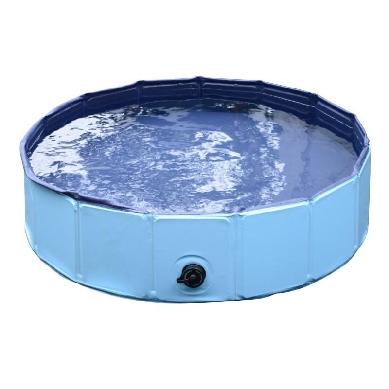 Skládací bazén pro psa 120 x 30 cm | modrý