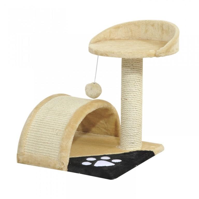 Škrabadlo pro kočky 36x36x44 cm | béžové