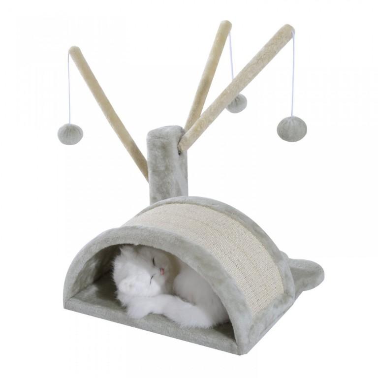 Škrabadlo pro kočky 38x38x40 cm | šedé
