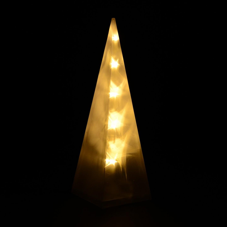 Goleto Vánoční pyramida 30 cm | 10 LED teplá bílá